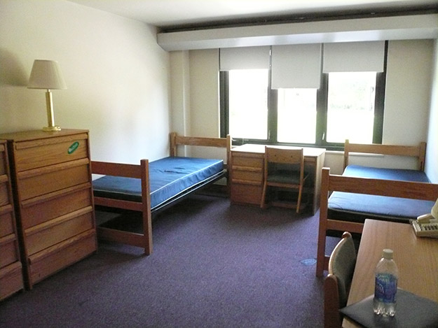 empty college dorm