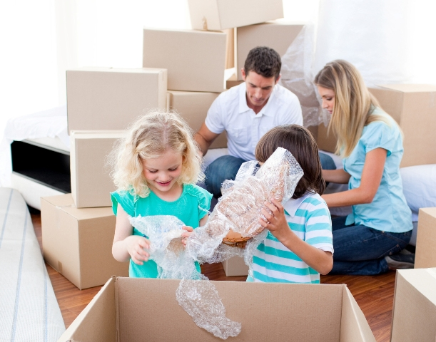 Unpacking with your family