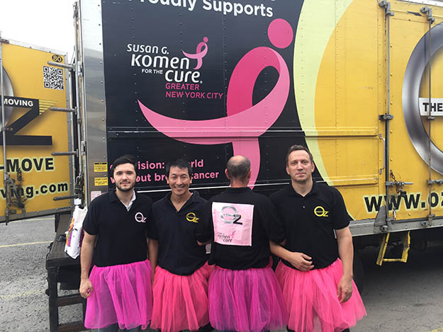Oz Moving Employees Supporting Susan G. Komen